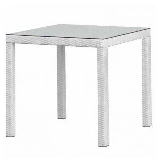Mesa de jardín COSTA blanco beige