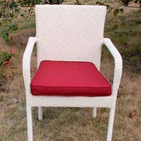 sillón de jardin tiv blanco beige